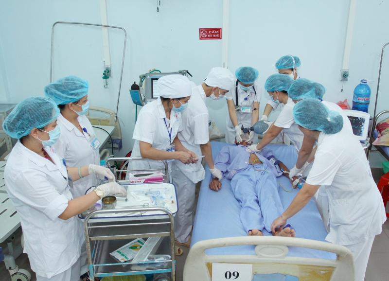 Ca bệnh nặng đang cấp cứu tại bệnh viện