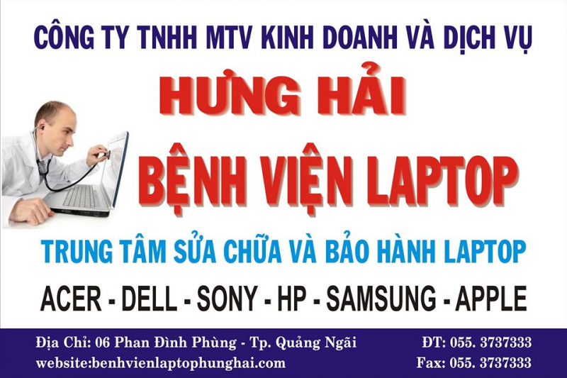 Bệnh viện laptop Hưng Hải