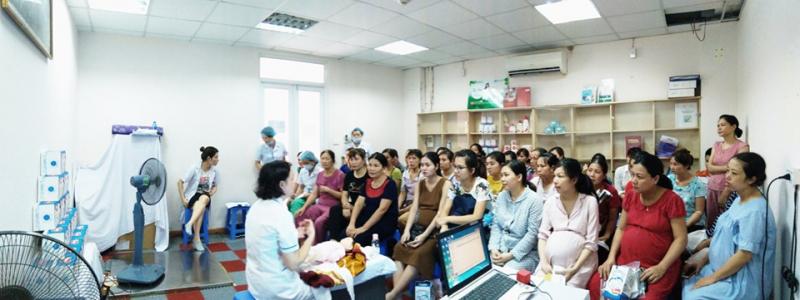 Lớp học tiền sản tại Bệnh viện phụ sản TW