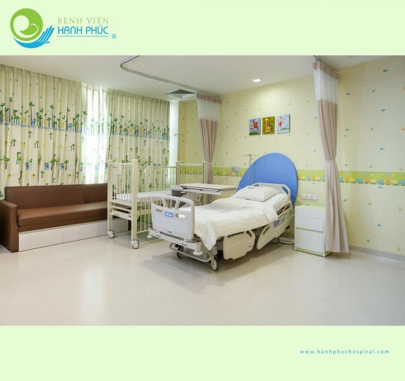 Phòng bệnh tiện nghi hiện đại tại Bệnh viện quốc tế Hạnh Phúc