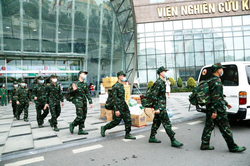 Đoàn công tác số 2 của Bệnh viện TWQĐ 108 lên đường tăng cường hỗ trợ phòng, chống dịch COVID-19 tại Bắc Ninh