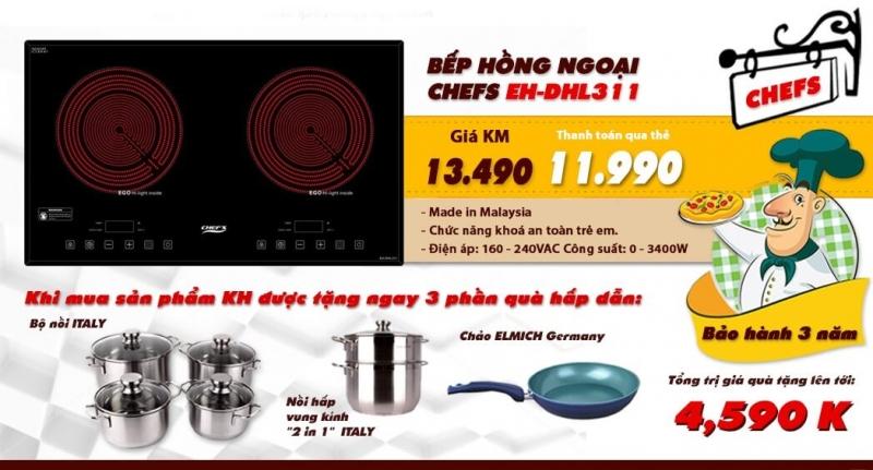 Bếp hồng ngoại Chefs