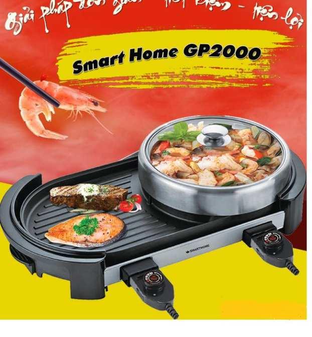 Bếp lẩu nướng điện kết hợp hoàn hảo giữa nướng và nấu lẩu tiện dụng