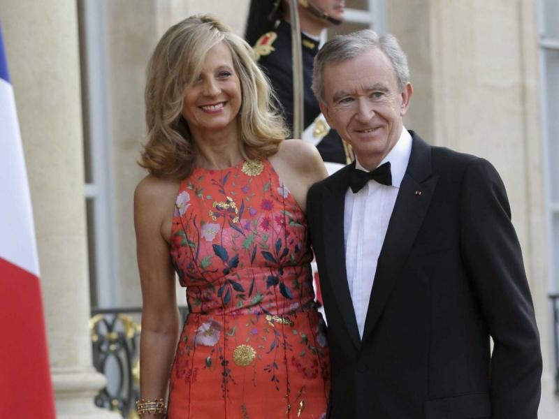 Bernard Arnault và Helene Mercier