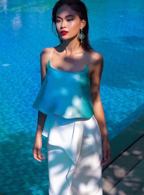 Mâu Thuỷ là người mẫu nổi bật của công ty BeU Models.