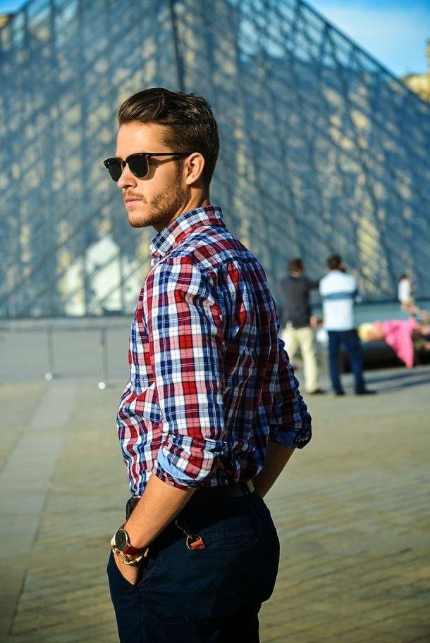 Top 5 bí quyết diện áo sơ mi kẻ nam phong cách nhất mùa Thu-Đông