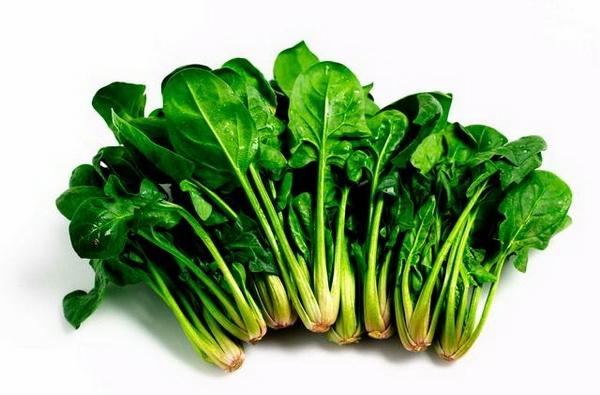 Giảm size bắp chân bằng rau bina