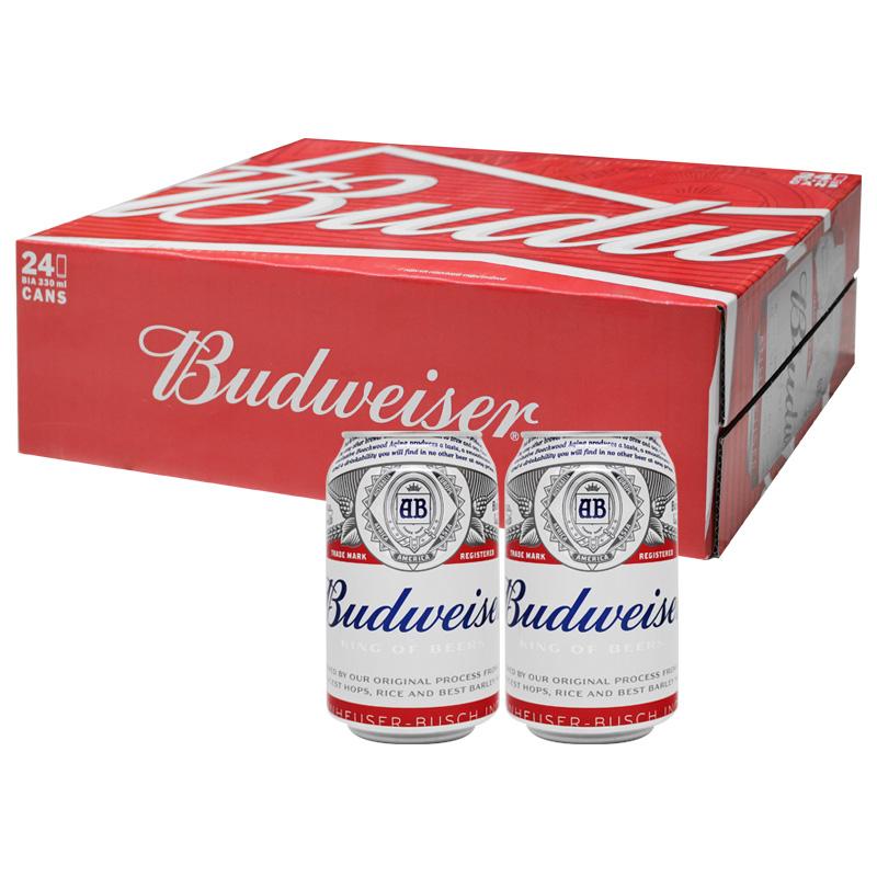 Bia Budweiser (Mỹ, Thùng 24 Lon 330ml)