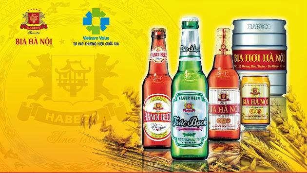 Các sản phẩm bia Hà Nội