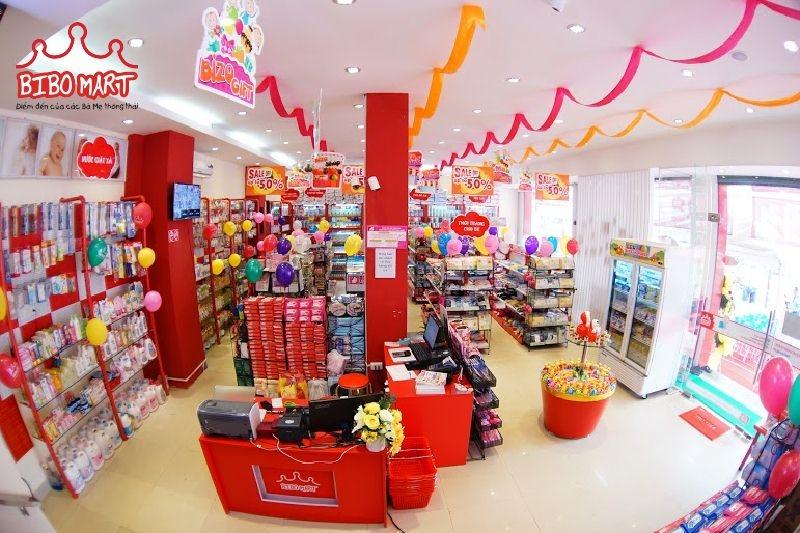 Không gian mua sắm tại Bibo Mart Phạm Hùng