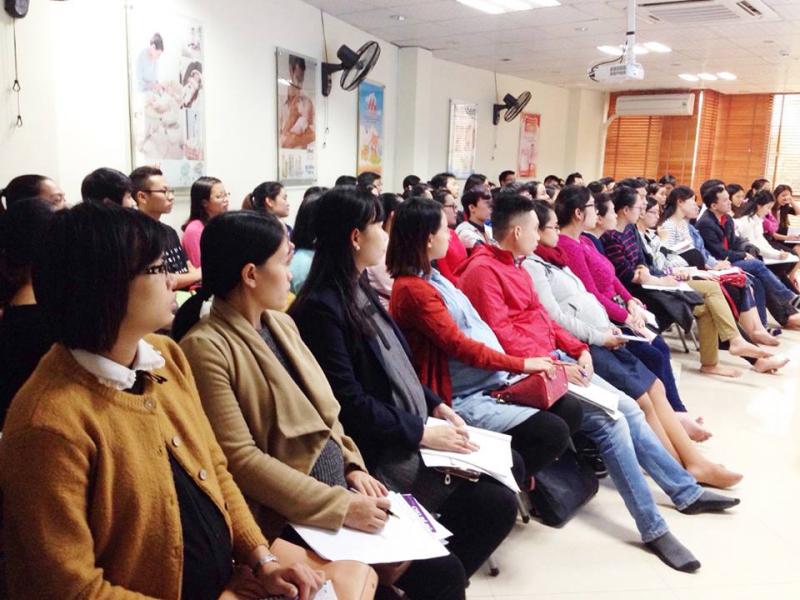 Học viên của lớp tiền sản do Bibomart tổ chức