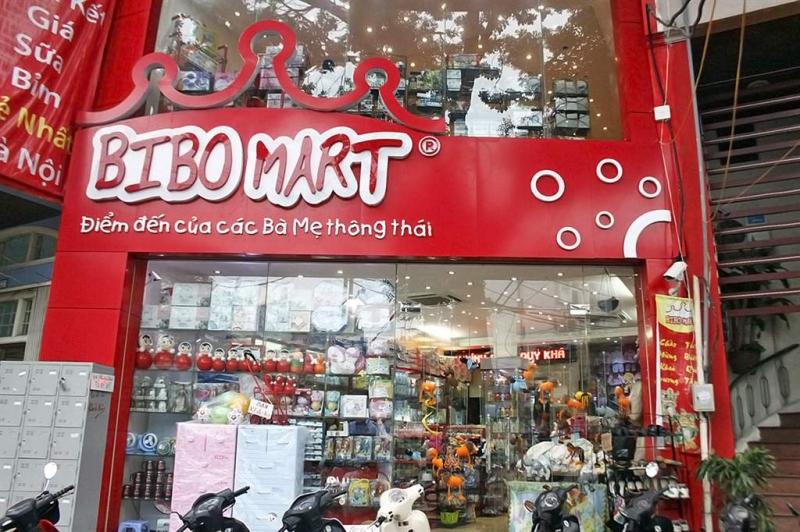 Chi nhánh Bibo Mart rất đẹp và bắt mắt, các gian hàng được bố trí một cách khoa học.