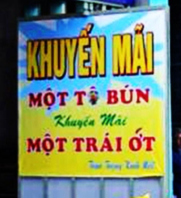 Top 10 biển quảng cáo hài hước nhất Việt Nam
