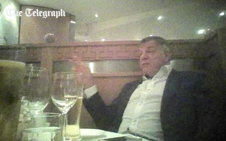 Đoạn video do Daily Telegraph ghi lại về những điều HLV Sam Allardyce nói