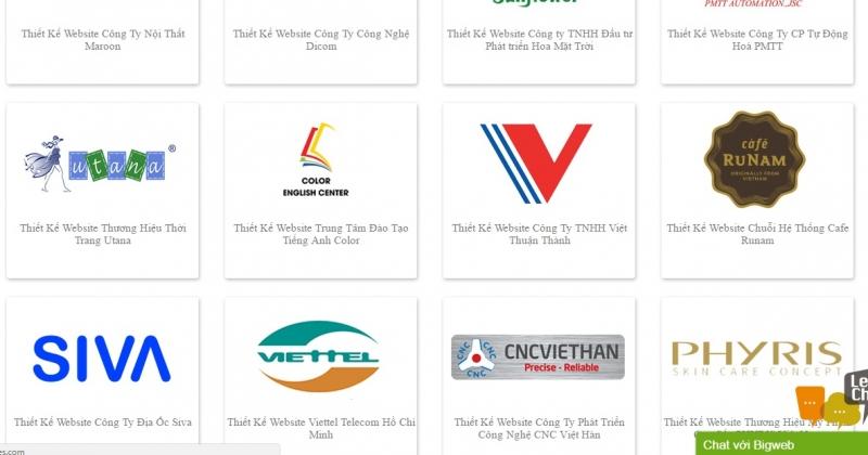 1 vài khách hàng của Bigweb