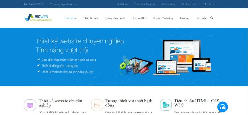 Công ty thiết kế website chuyên nghiệp , Chuẩn Seo