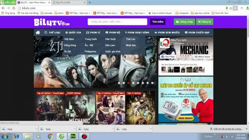 Website của BiluTV với giao diện thân thiện, nhẹ nhàng