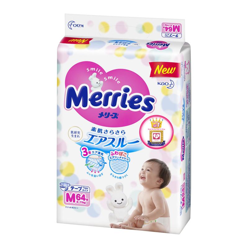 Bỉm Merries thấm hút cực tốt, mềm mại và chống tràn hoàn hảo.