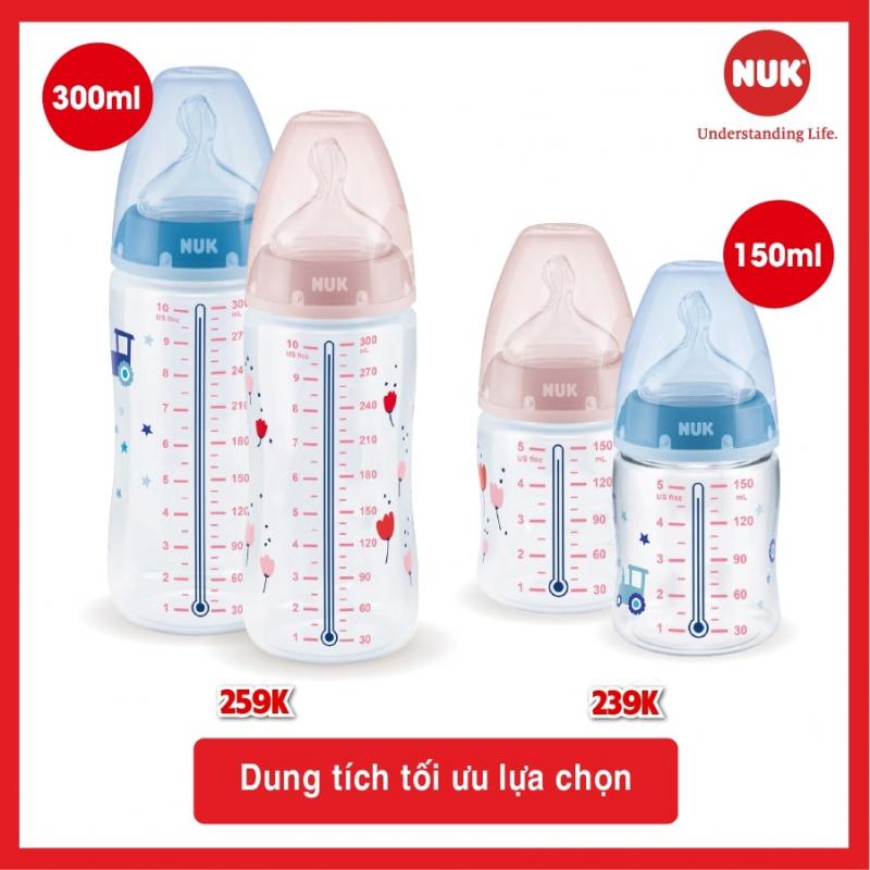 Bình sữa cảm biến nhiệt NUK