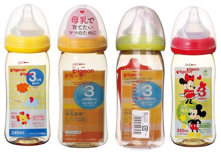 Bình sữa Pigeon nội địa Nhật Bản 240ml cho bé yêu