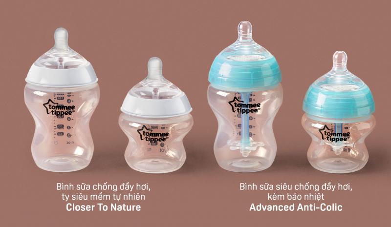 Bình sữa Tommee Tippee cho bé sơ sinh