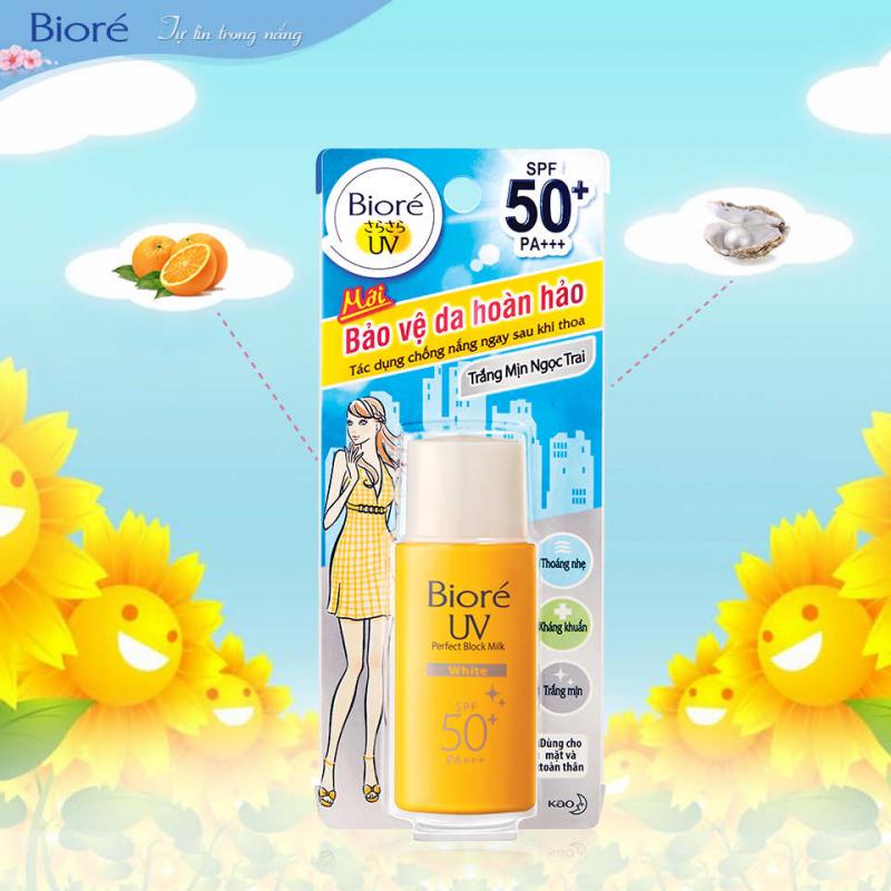 Bioré Sữa Chống Nắng Bảo Vệ Hoàn Hảo Mát Lạnh UV SPF50+/PA+++ 25ML