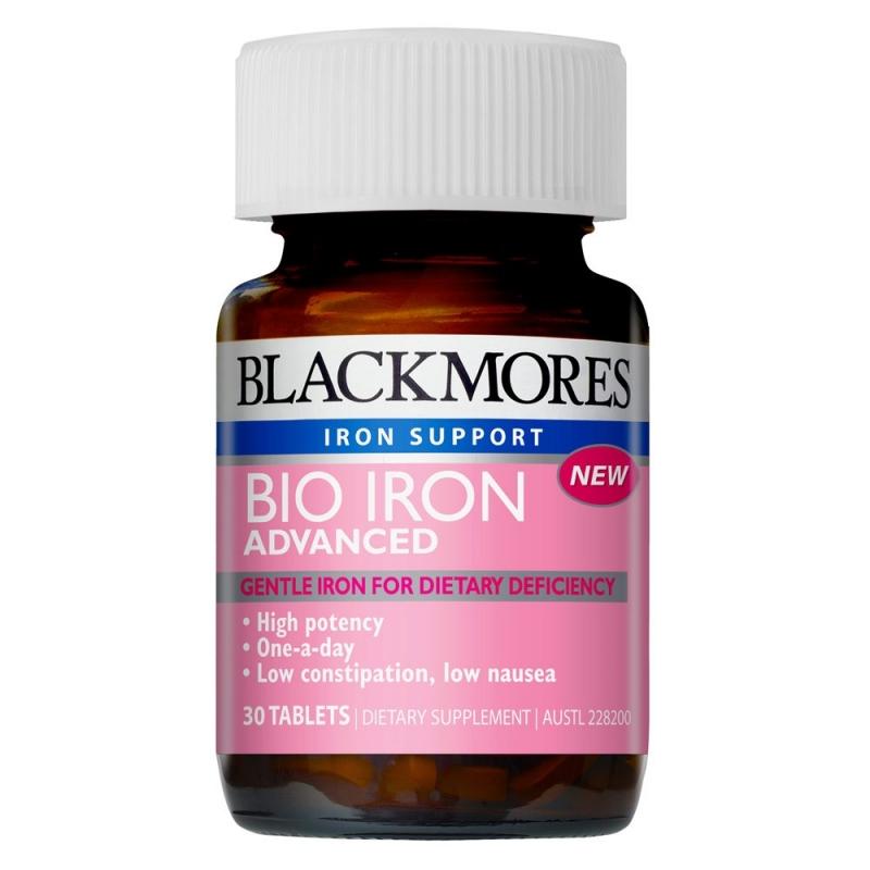 Blackmores Iron phòng ngừa tối ưu thiếu sắt cho mẹ bầu và thai nhi