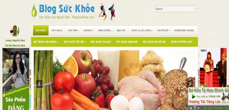 Giao diện website Blog sức khỏe