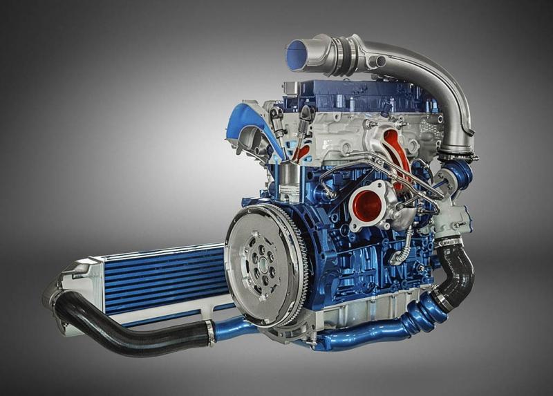 Động cơ tăng áp 2.3L 4 xi-lanh trong xe Focus RS