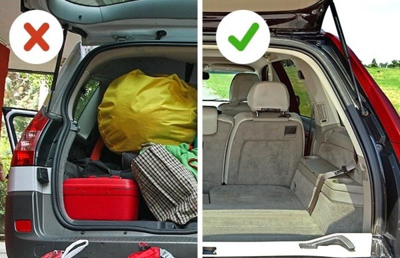 Bỏ bớt đồ thừa ra khỏi xe để tiết kiệm nhiên liệu