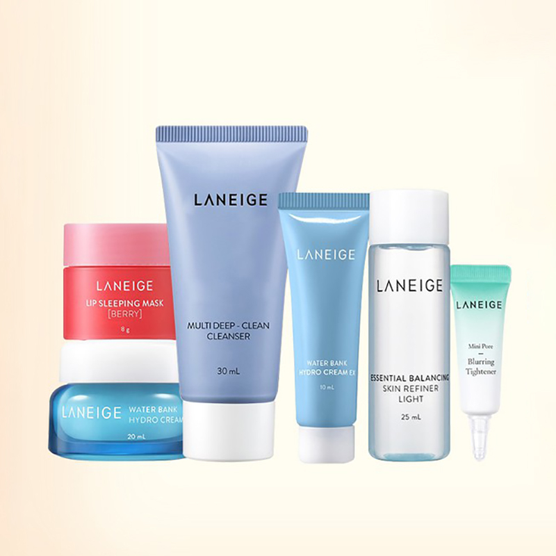 Bộ cân bằng, dưỡng ẩm & thanh lọc cho da LANEIGE Set Kit