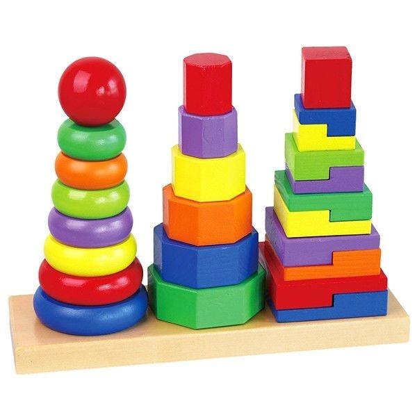 Bộ xếp hình tháp bằng nhựa