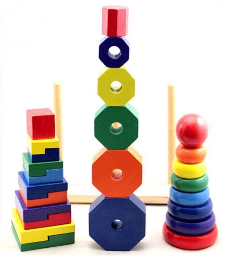 Bộ xếp hình tháp bằng gỗ