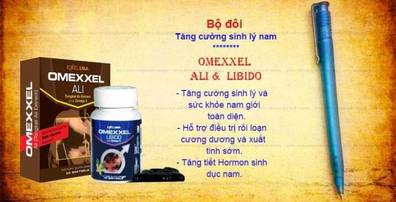 Bộ đôi sản phẩm Omexxel Ali & Libido