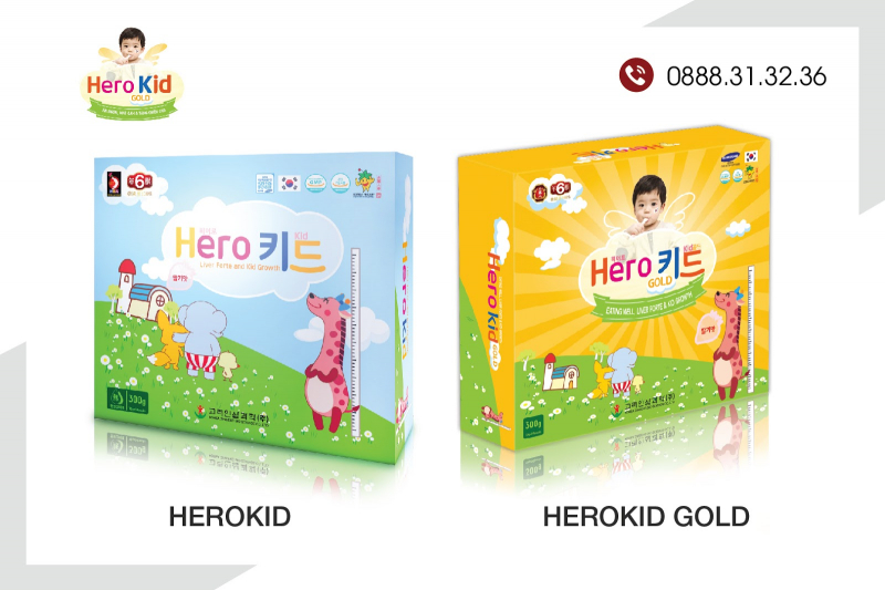 Bộ đôi siro Herokid - Herokid Gold