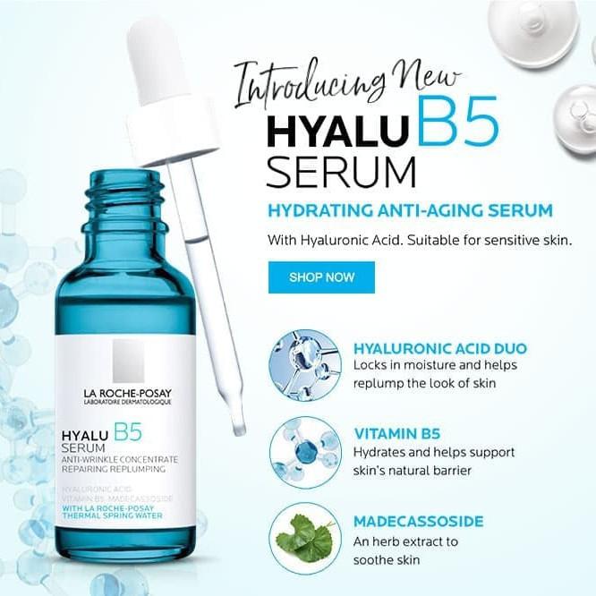 Bộ dưỡng chất chuyên sâu giúp hỗ trợ quá trình tái tạo da La Roche-Posay Hyalu B5 Serum