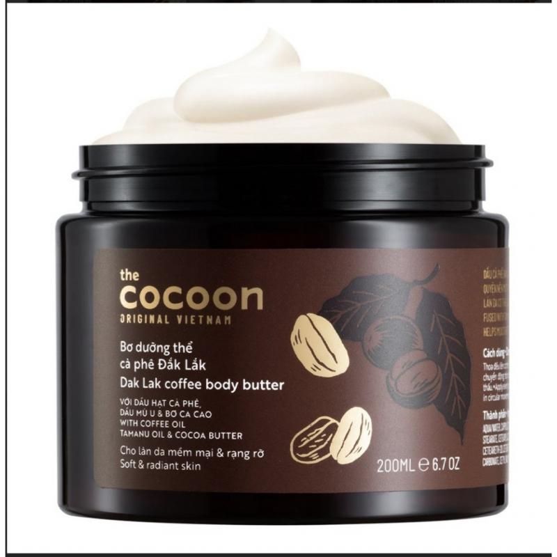 Bơ dưỡng thể cà phê Đắk Lắk Cocoon cho da mềm mịn & rạng rỡ 200ml