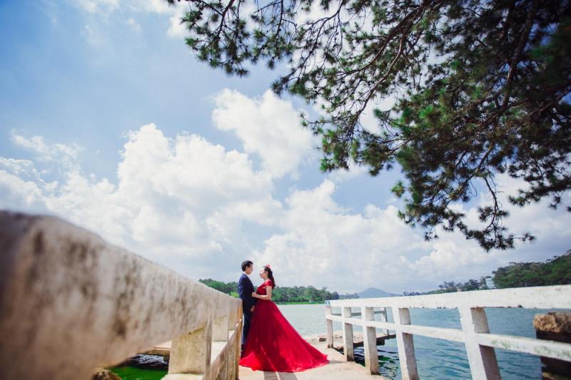 Ảnh cưới tại Hồ Xuân Hương Đà Lạt
