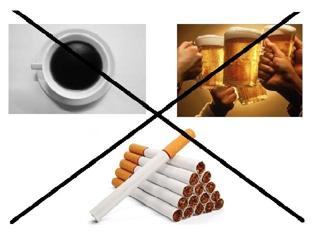 Bỏ hoặc giảm việc sử dụng chất kích thích khi không cần thiết