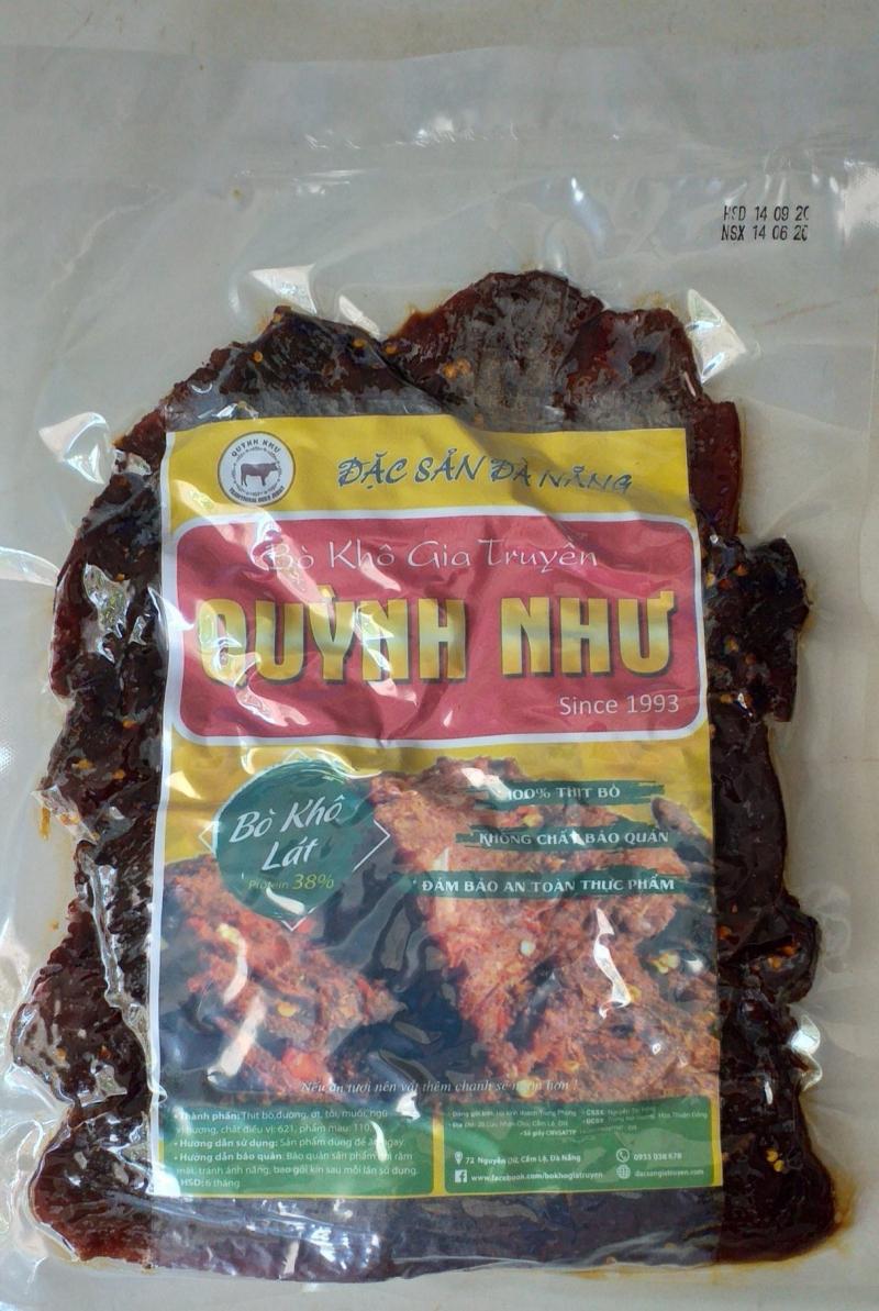 Bò Khô Gia Truyền Đà Nẵng - Quỳnh Như,  địa chỉ mua thịt bò khô ngon nhất Đà Nẵng