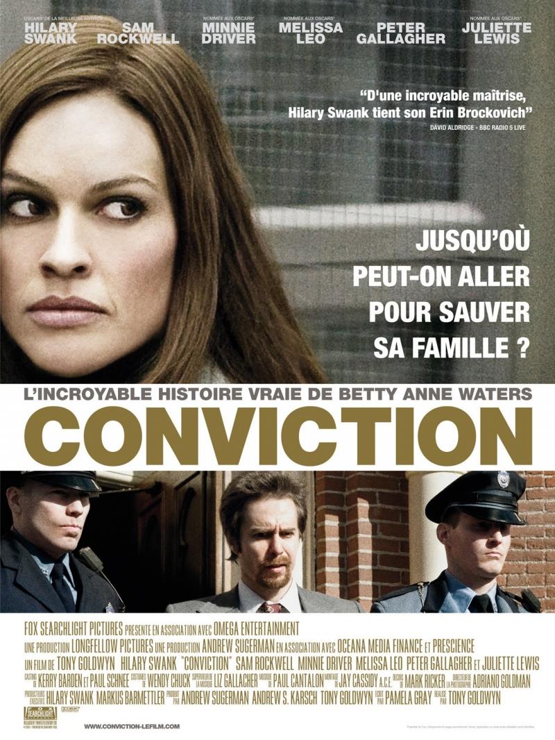 Betty và các diễn viên trong phim Conviction