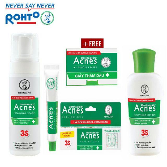 Bộ sản phẩm acnes ngăn ngừa và trị mụn Trio