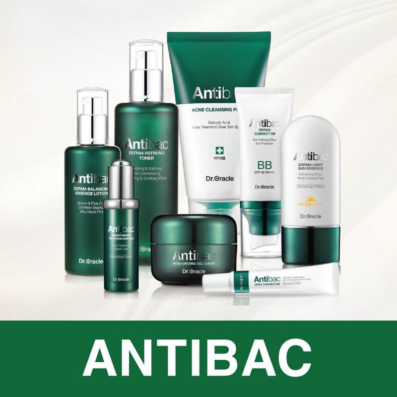 Bộ sản phẩm chăm sóc da dầu mụn Antibac