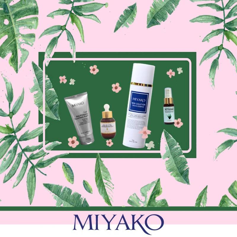 Bộ sản phẩm dưỡng trắng da mặt Miyako