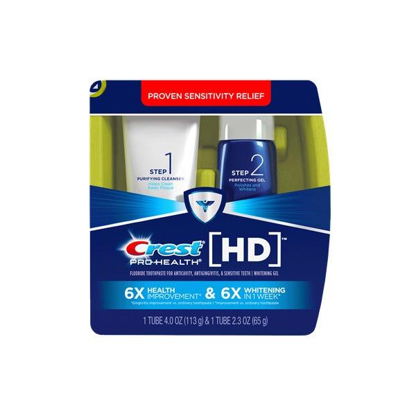 Bộ sản phẩm làm trắng răng Crest HD Pro-Health Daily Two Step: