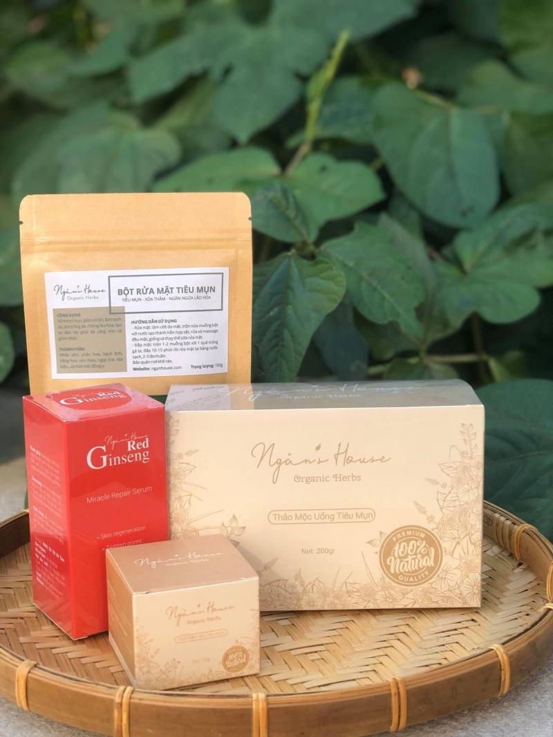 Bộ sản phẩm trị mụn của Ngân's House Organic Herbs