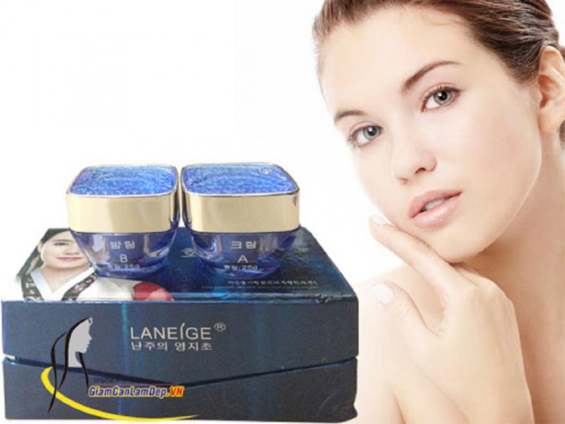 Bộ sản phẩm trị nám tàn nhang dưỡng trắng da Laneige 2 in 1