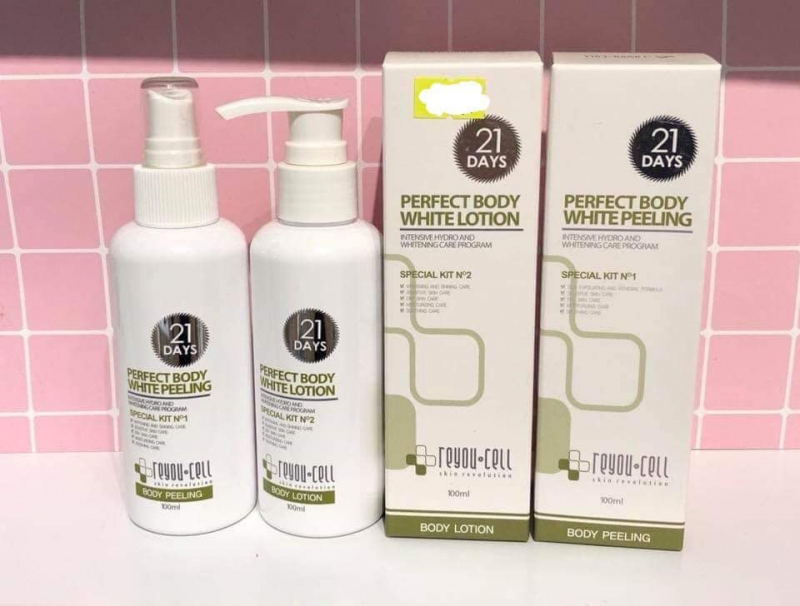 Bộ tắm trắng 21 days Perfect Body White Peeling