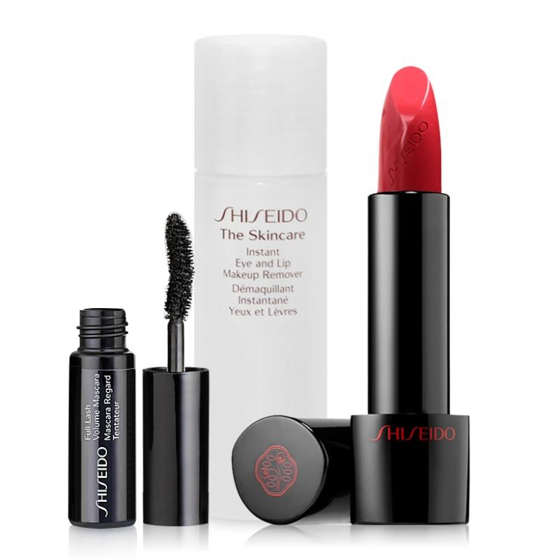 Bộ sản phẩm trang điểm hoàn hảo Shiseido Rouge Rouge Lipstick