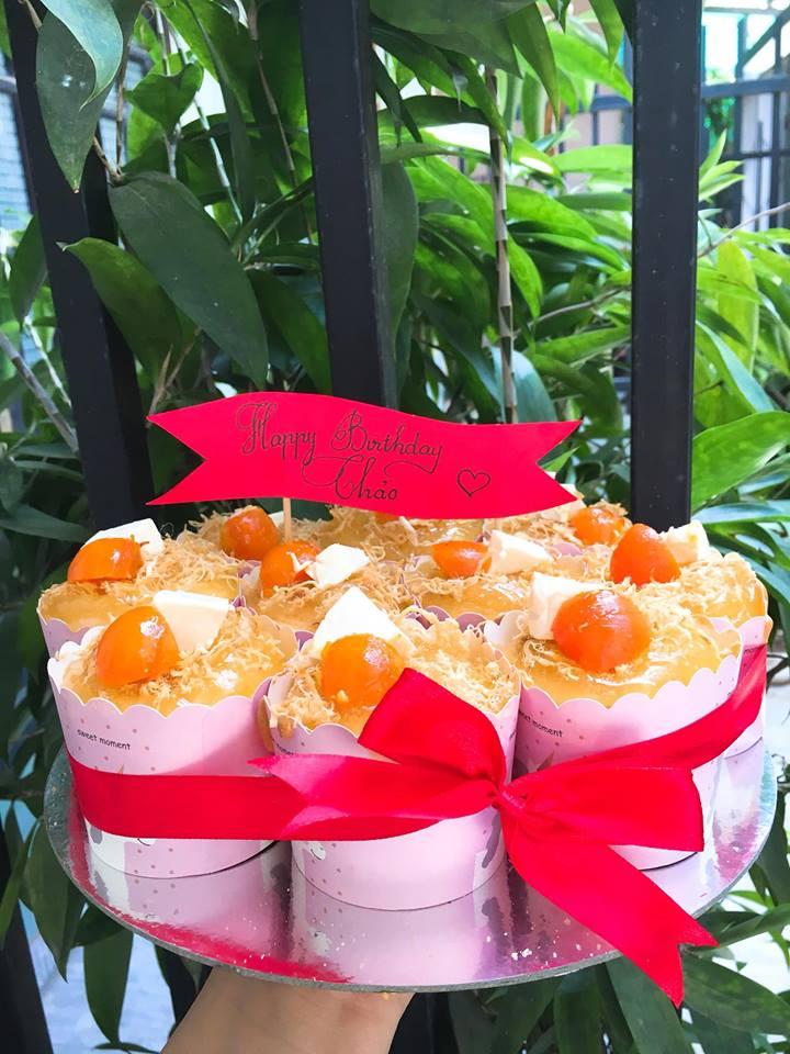 Những chiếc bánh bông lan trứng muối mini siêu dễ thương